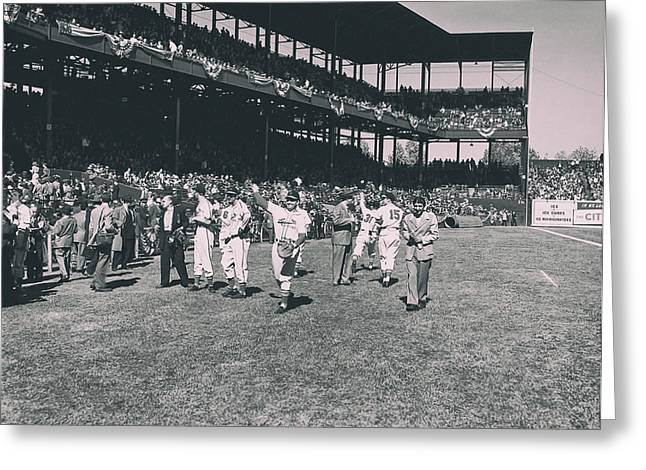1946 World Series - Sportsman's Park St Louis Greeting Card by Mountain Dreams