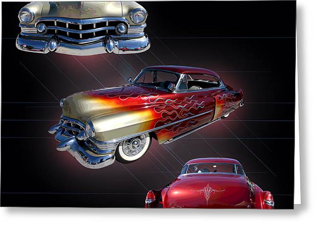 1950 Coupe De Ville Greeting Card by Jim Carrell