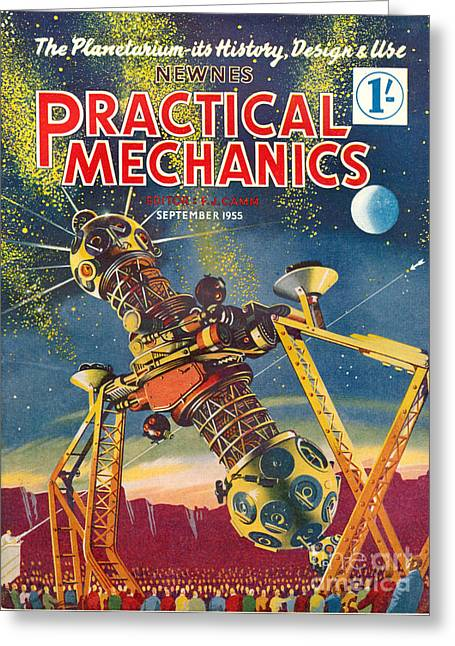 1950s Uk Practical Mechanics Magazine Greeting Card by The Advertising Archives