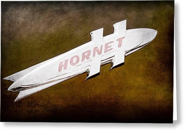 1951 Hudson Hornet Emblem Greeting Card by Jill Reger