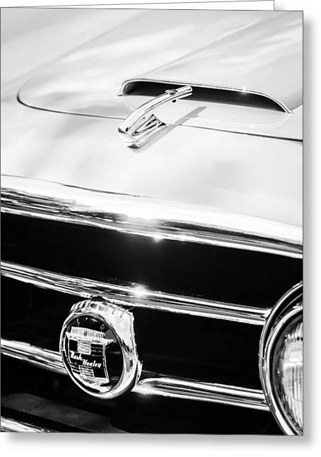 1953 Nash-healey Convertible Grille Emblem Greeting Card by Jill Reger