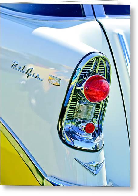 1956 Chevrolet Belair Nomad Taillight Emblem Greeting Card