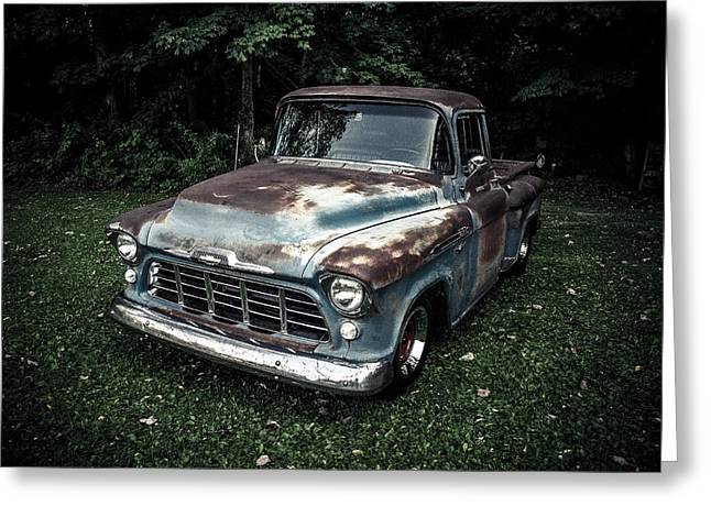 1956 Chevy 3100 Greeting Card by Mark Maloney