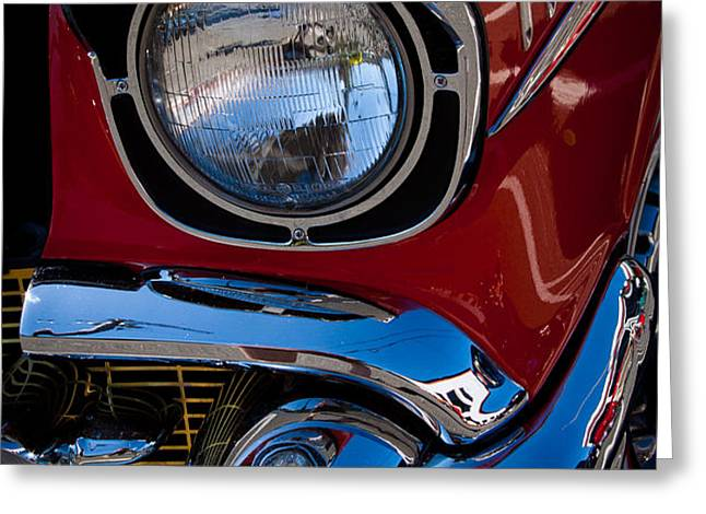 1957 Chevy Bel Air Custom Hot Rod Greeting Card by David Patterson