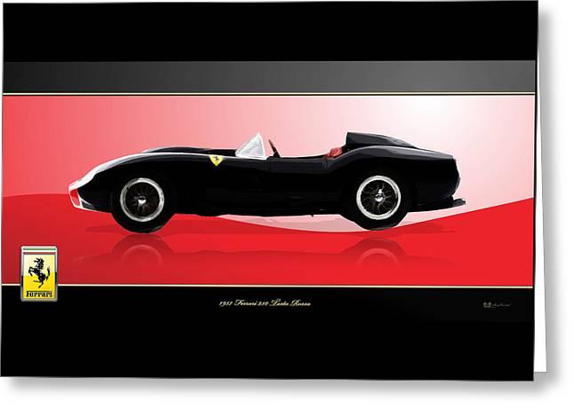 1957 Ferrari 250 Testa Rossa With 3d Badge Greeting Card
