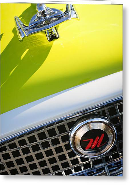 1959 Nash Metropolitan 1500 Convertible Hood Ornament - Grille Emblem Greeting Card by Jill Reger