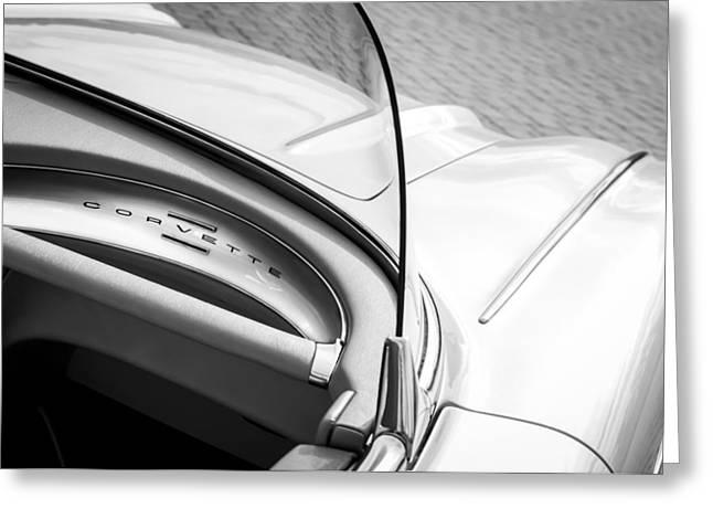 1960 Chevrolet Corvette Dashboard Emblem Greeting Card by Jill Reger