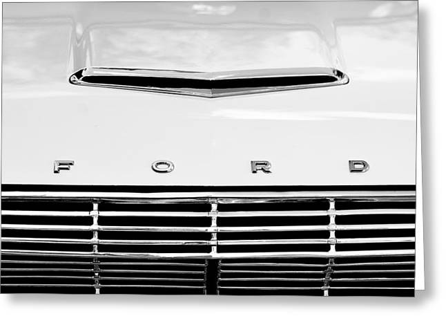 1963 Ford Falcon Futura Convertible  Hood Emblem Greeting Card