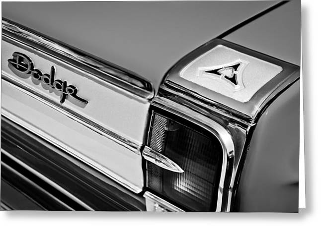 1965 Dodge Coronet 500 Taillight Emblem Greeting Card