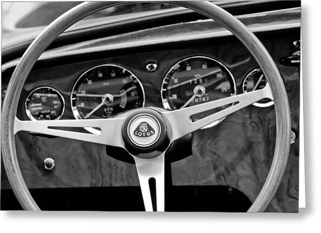 1965 Lotus Elan S2 Steering Wheel Emblem Greeting Card