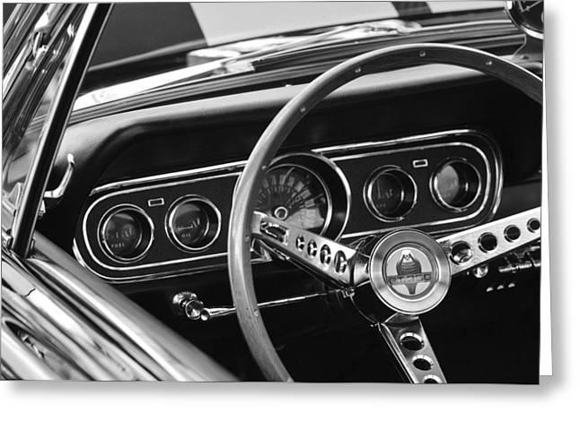 1966 Ford Mustang Cobra Steering Wheel Greeting Card by Jill Reger