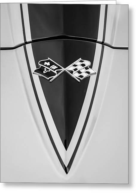 1967 Chevrolet Corvette Coupe Hood Emblem Greeting Card by Jill Reger