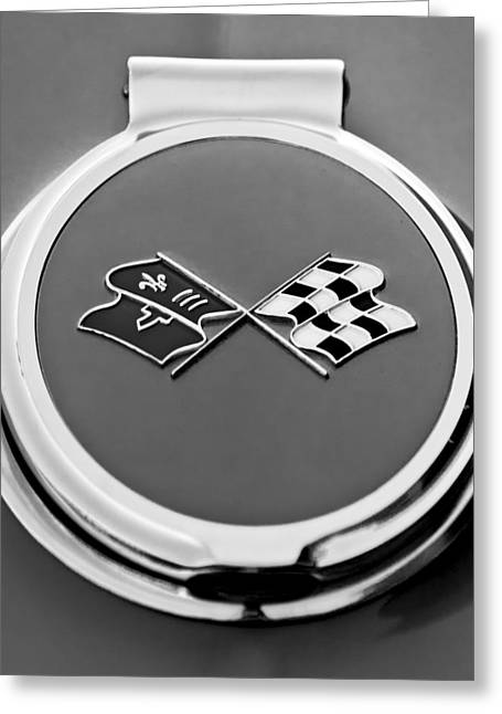 1967 Chevrolet Corvette Gas Cap Emblem Greeting Card by Jill Reger