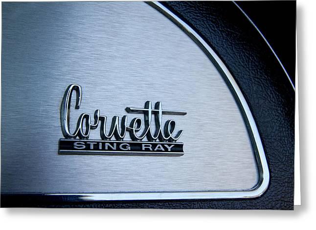 1967 Chevrolet Corvette Glove Box Emblem Greeting Card
