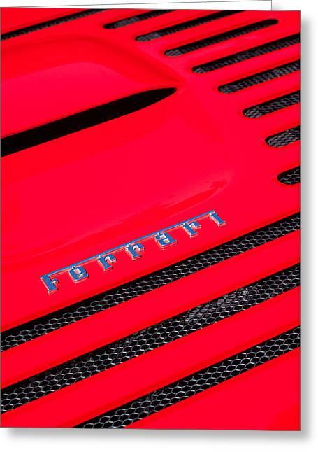 1997 Ferrari F-355 Spider Emblem Greeting Card by Jill Reger