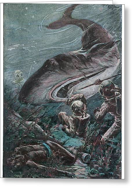 '20,000 Lieues Sous Les Mers' [20 000 Greeting Card by Mary Evans Picture Library