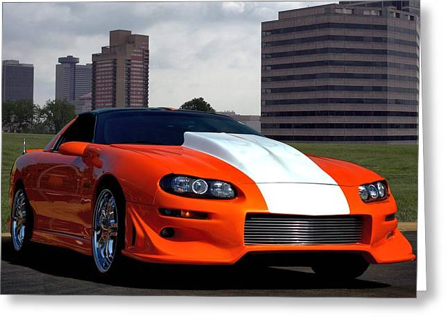 Greeting Card featuring the photograph 2002 Camaro Z28 by Tim McCullough