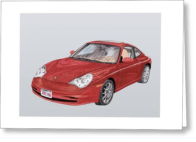 2002 Porsche 996  Greeting Card by Jack Pumphrey