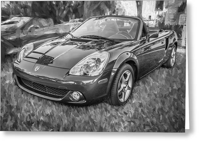 2005 Toyota Mr2 Sports Car Painted Bw  Greeting Card