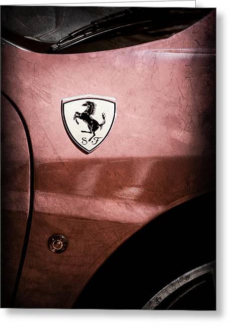 2007 Ferrari F430 Spider F1 Emblem Greeting Card by Jill Reger
