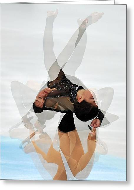2012 European Figure Skating Greeting Card by Science Photo Library