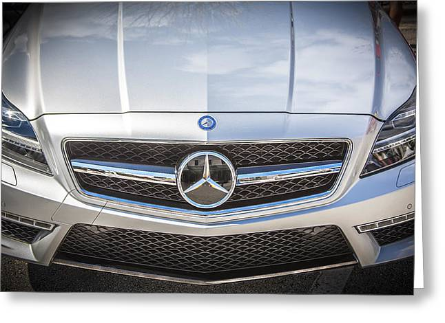 2012 Mercedes Cls 63 Amg Twin Turbo Bw Greeting Card by Rich Franco