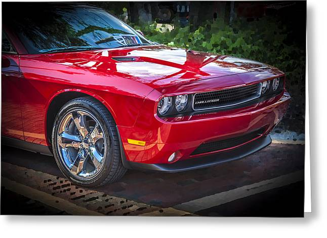 2013 Dodge Challenger  Greeting Card by Rich Franco