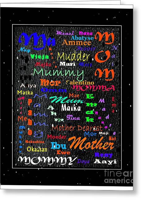 52 Ways To Say Mother Greeting Card by Barbara Griffin