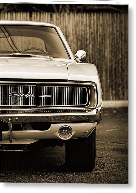 '68 Charger  Greeting Card by Gordon Dean II