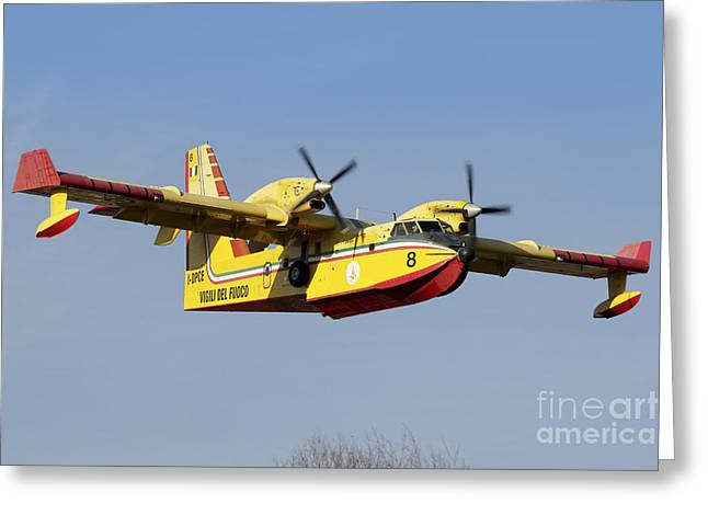 A Cl-415 Italian Fire Hunter Greeting Card by Luca Nicolotti