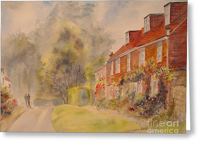 Greeting Card featuring the painting A Corner Of Winchelsea by Beatrice Cloake