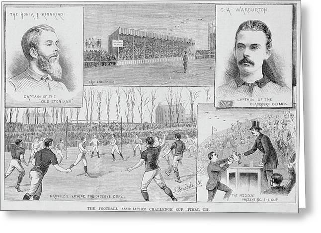 A Football Match Greeting Card by British Library