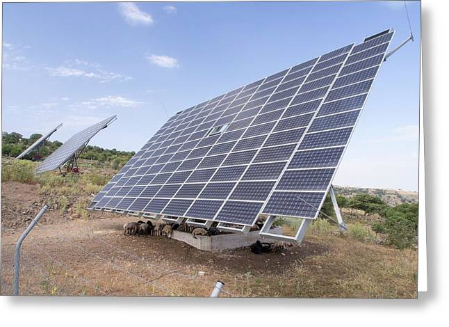 A Solar Power Station On Lesvos Greeting Card