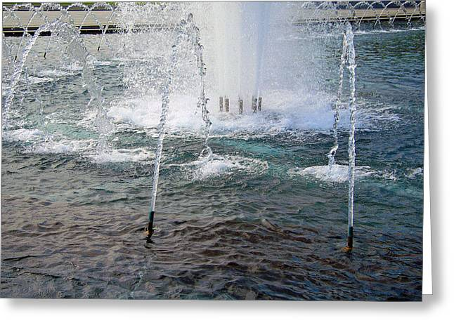Greeting Card featuring the photograph A World War Fountain by Cora Wandel