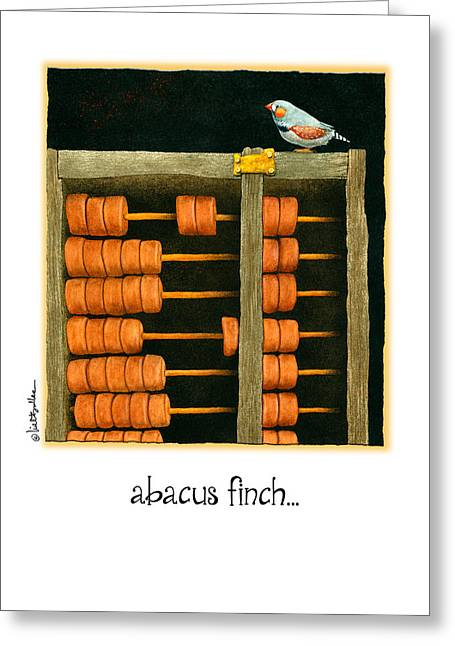 Abacus Finch... Greeting Card