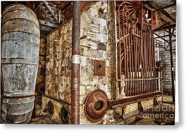 Abandoned Steam Plant Greeting Card