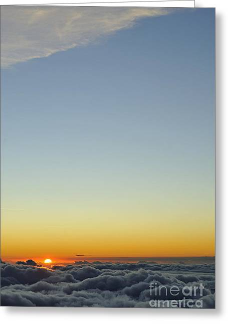 Above Cloudscape At Sunset Greeting Card by Sami Sarkis