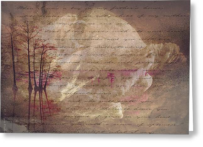 Abstract Greeting Card by J Larry Walker