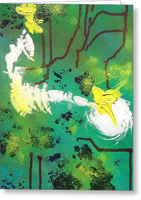 Abstract Greeting Card by Kateryna Kurylo