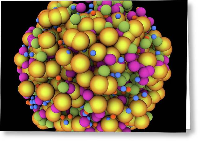 Abstract Molecule Greeting Card by Alfred Pasieka
