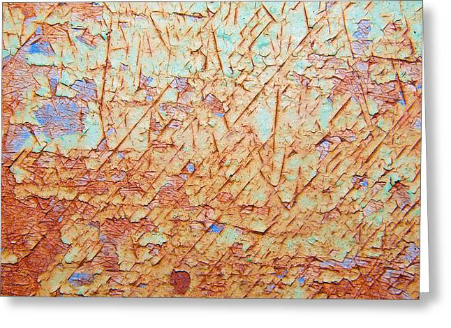 Abstract  Rust And Metal Series Greeting Card by Mark Weaver