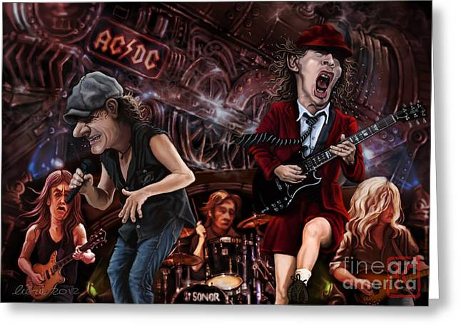 Ac/dc Greeting Card