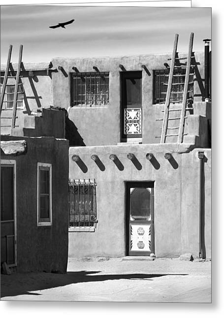 Acoma Pueblo Adobe Homes Greeting Card