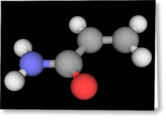 Acrylamide Molecule Greeting Card by Laguna Design/science Photo Library