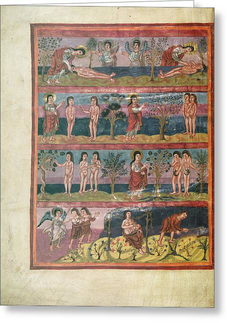 Adam And Eve Greeting Card by British Library