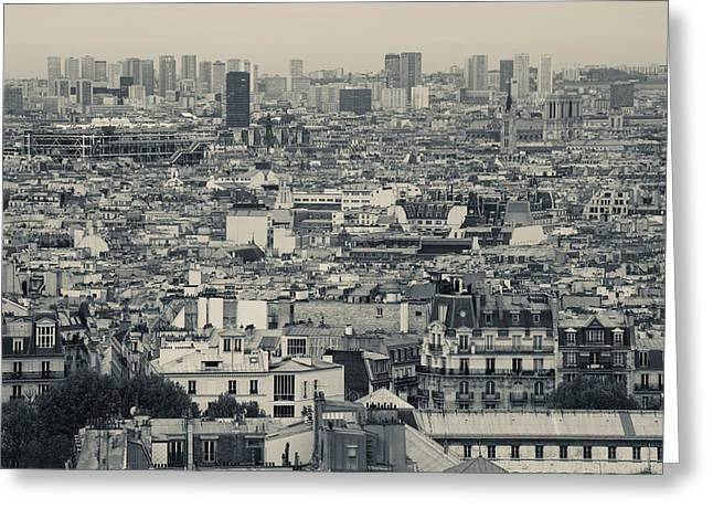 Aerial View Of A City Viewed Greeting Card by Panoramic Images