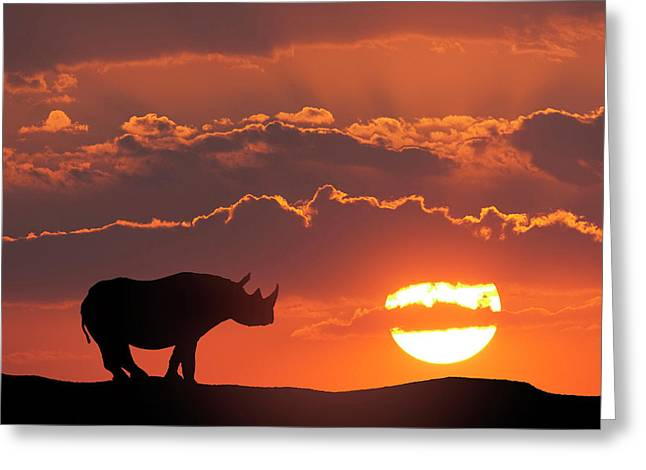 Africa, Kenya, Masai Mara Game Reserve Greeting Card