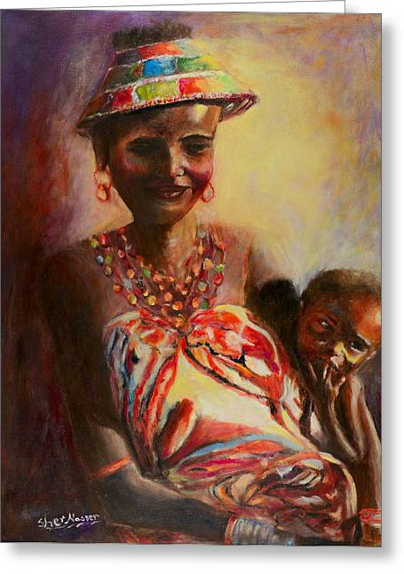 African Mother And Child Greeting Card