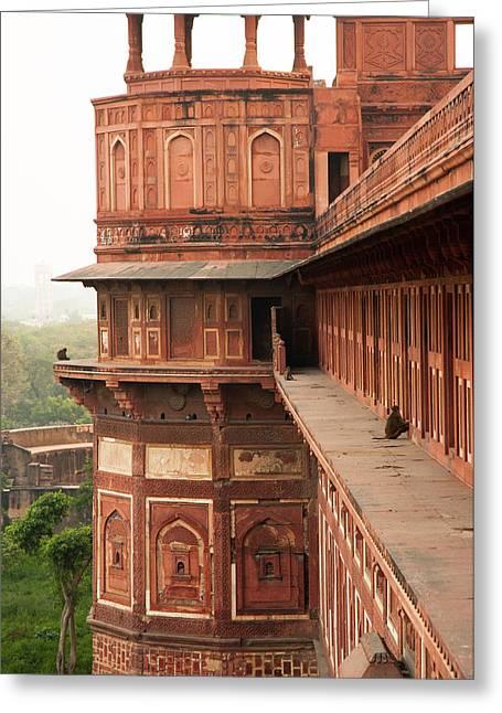 Agra Fort, Agra, Uttar Pradesh, India Greeting Card by Inger Hogstrom