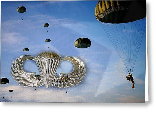 Airborne Greeting Card